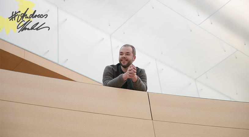 Andreas Krahl auf der Galerie im Plenarsaal des Bayerischen Landtags