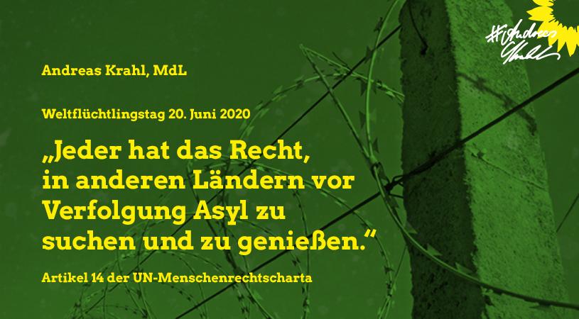 Andreas Krahl Weltflüchtlingstag