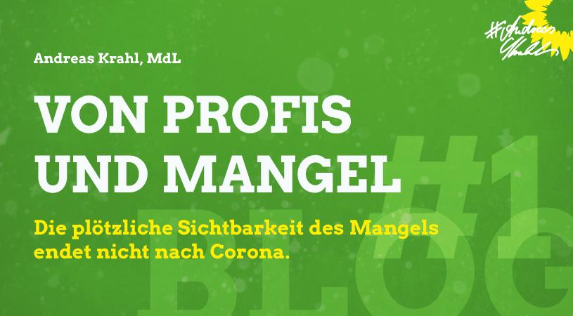 1 Andreas Krahl Von Profis und Mangel
