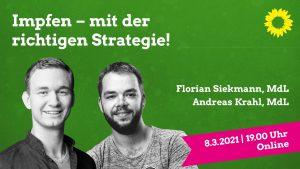 Impfen - mit der richtigen Strategie! mit MdL Florian Siekmann und MdL Andreas Krahl @ online
